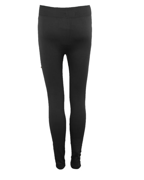 NEW LADIES WOMENS FLEECE LINED WINTER TIGHT PENCIL TROUSER THERMAL LEGGING 8-14
