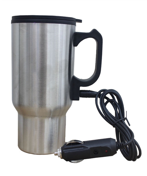 New 12v Stainless Steel Electric Mug Cup Auto Car Heated Travel Flask Kettle Jug