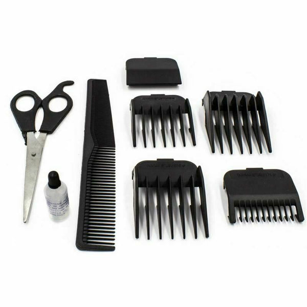 10pcs Professional Gents Men Hair Cutting Clipper Trimmer Shaver Grooming Set