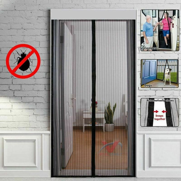 New Magnetic Fastening Magic Mesh Curtain Hands Free Fly Bug Insect Screen Door