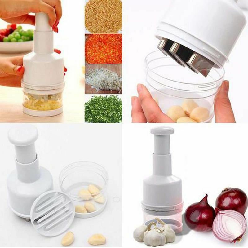 Stainless Steel Cutter One Piece Salad Vegetable Chopper Slicer Dicer