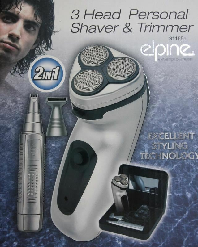 Men Rechargeable Cordless Professional 3 Head Personal Shaver Nose Ear Trimmer