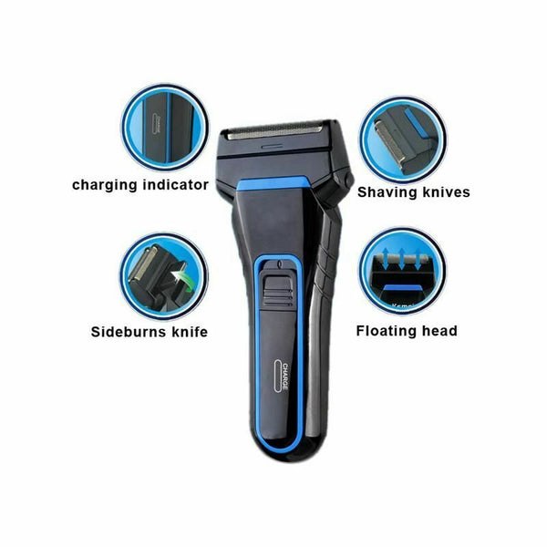Men's Rechargeable Cordless Electric Shaver Razor Trimmer Dual Blade
