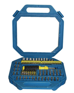 New 101Pc Ratchet Driver Socket Bit Set In Folding Carry Case Reversible Ratchet