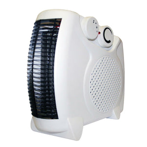 2000W Portable Electric Compact Up Right Small Fan Heater Home Office Caravan