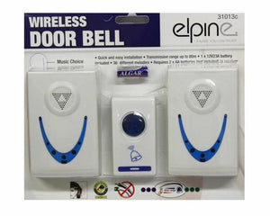 High Quality Twin Set 36 Melodies Chimes Wireless Cordless Door Bell 80m Range