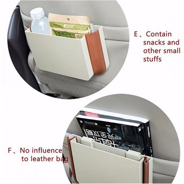 Expandable Car Trash Vehicle Storage Garbage Bin Rubbish Back Seat Attachable
