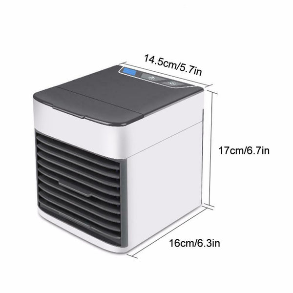 New Electric Evaporator USB Portable Air Cooler Three Speed Fan LED Light