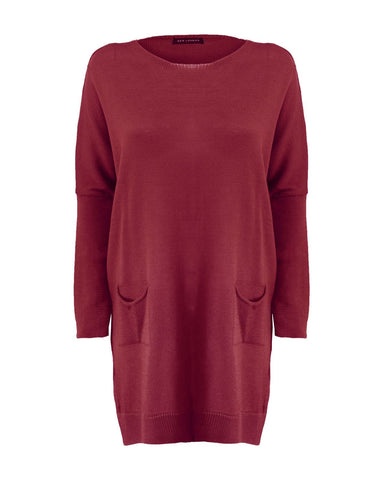 Ladies Women Knitted Batwing Style Over Sized Fine Knit Baggy Jumper Dress Top