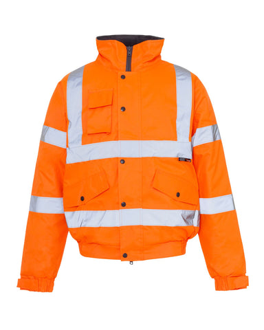 HI VIZ VIS STANDARD PARKA WATERPROOF WORKWEAR COAT REFLECTIVE BOMER JACKET 8-20