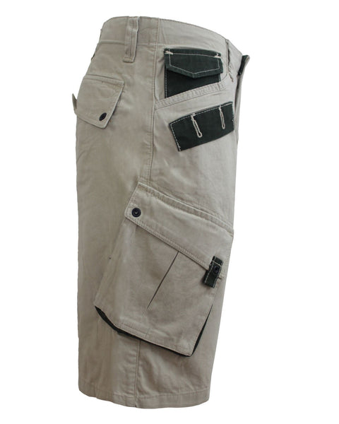 NEW MENS CARGO COMBAT SHORTS KNEE LENGTH GENTS ZIP UP SUMMER HALF PANTS 30-38