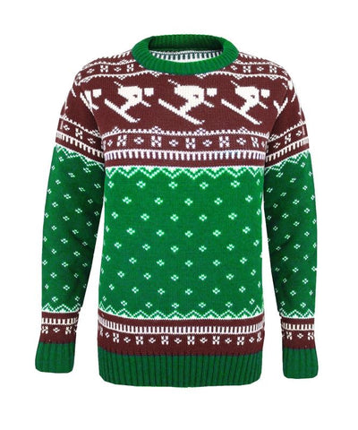 Men Knitted Fairisle Ski Christmas Xmas Novelty Jumper Pullover Sweater S M L XL
