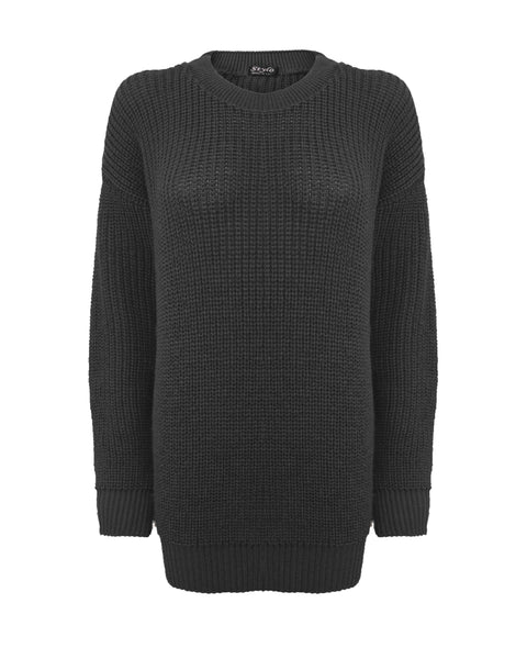 Black Baggy Jumper