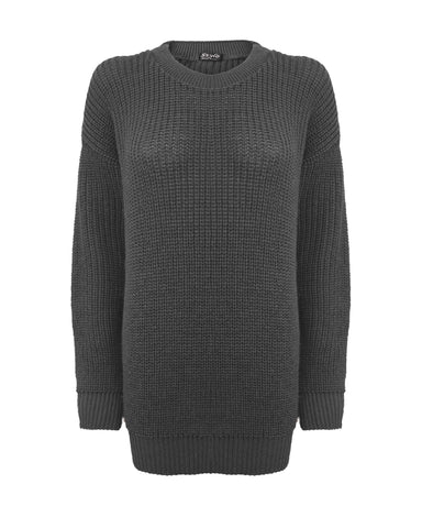 Charcoal Grey Baggy Jumper
