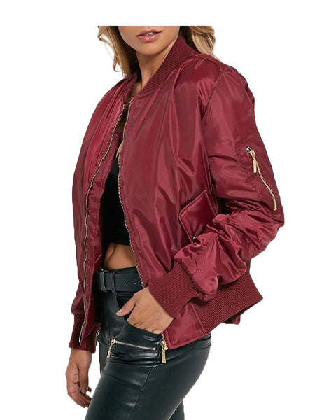 New Women Ladies Ma1 Bomber Jacket Vintage Summer Coat Flight Army Biker Retro