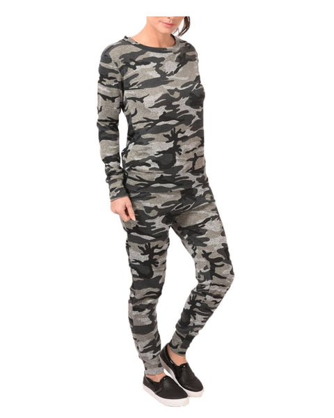 Ladies Womens Camouflage Print Loungewear Set Co-Ord Stretch Army Tracksuit 8-14