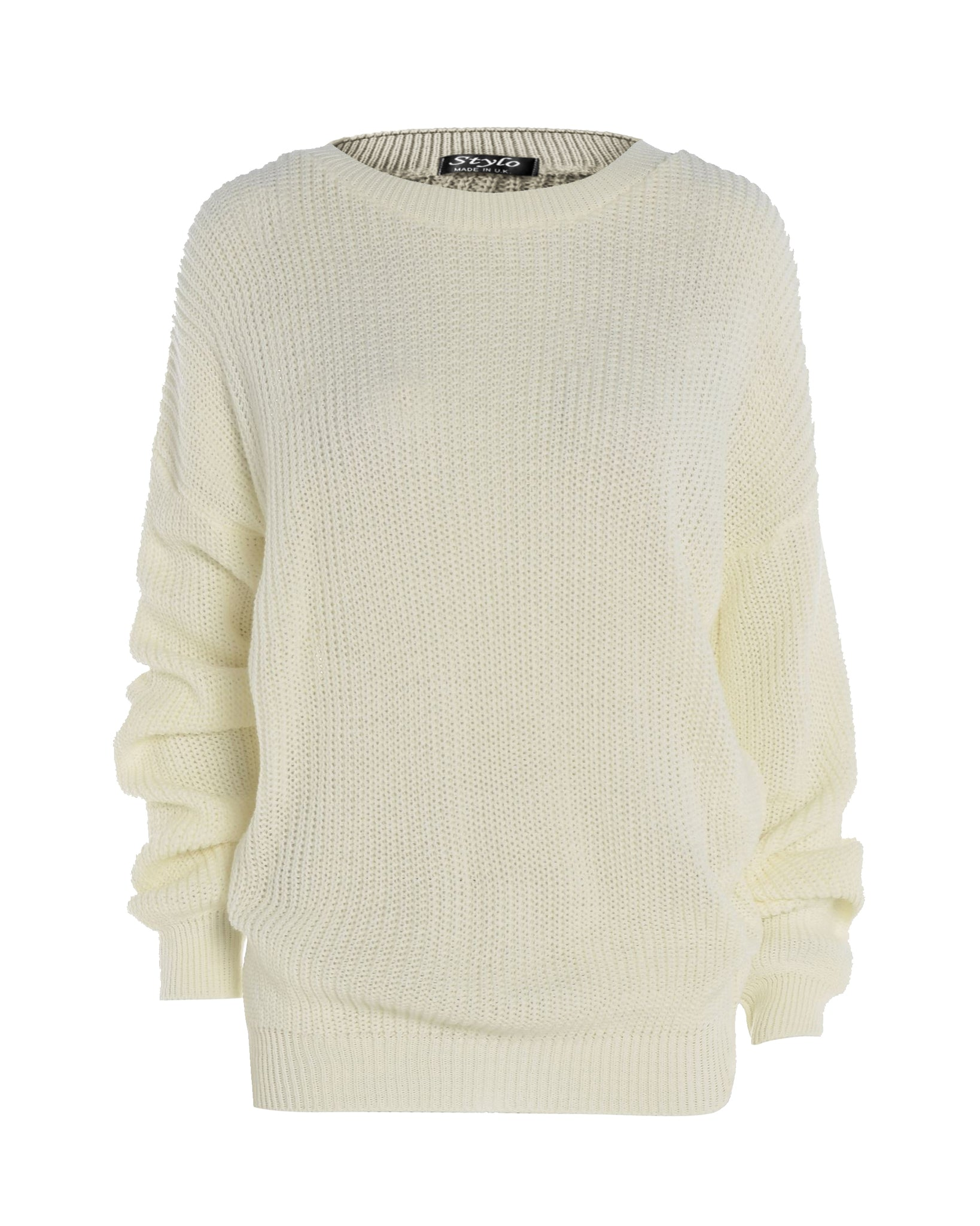 Cream Baggy Jumper