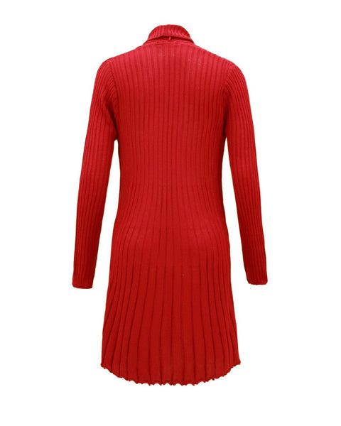 Ladies Women Knitted Brooch Boyfriend Cardigan Waterfall Summer Dress Top Jumper