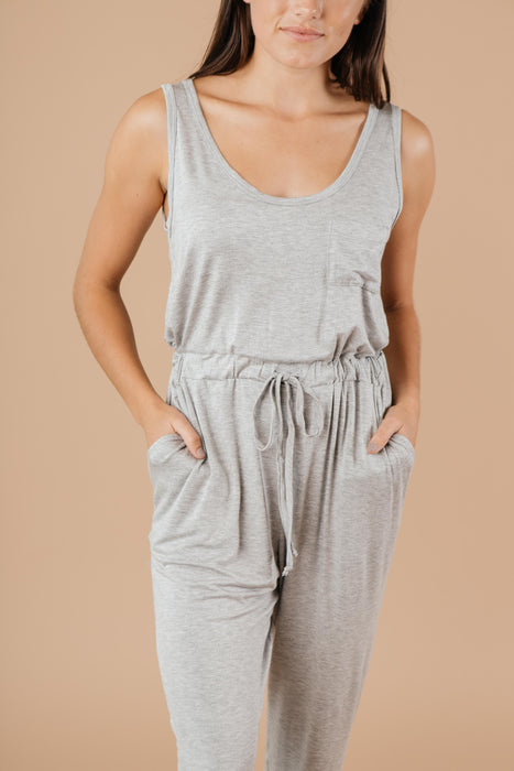 Jump In Jumpsuit In Heather Gray