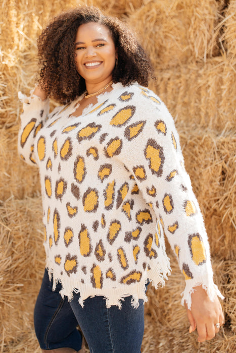 Mellow Yellow Leopard Sweater