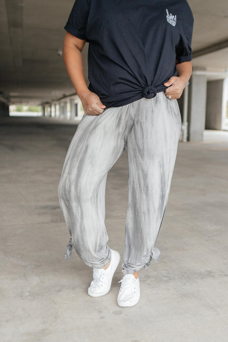 On The Run Gray Streak Pants