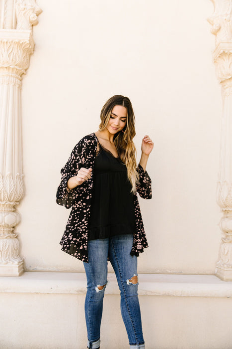 Clusters Cardigan In Black