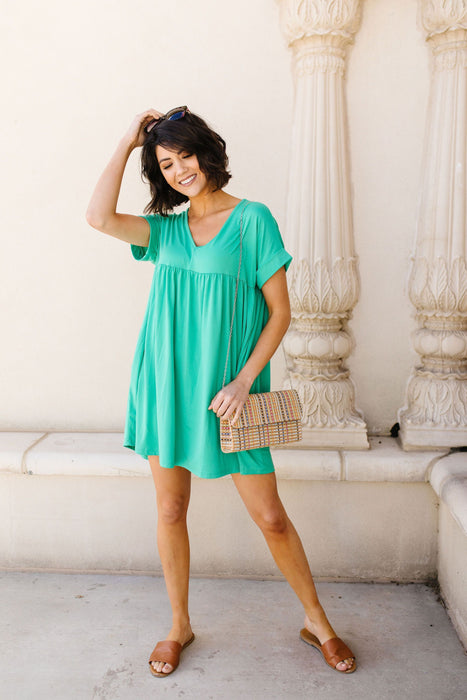 Cute & Comfortable Dress In Green