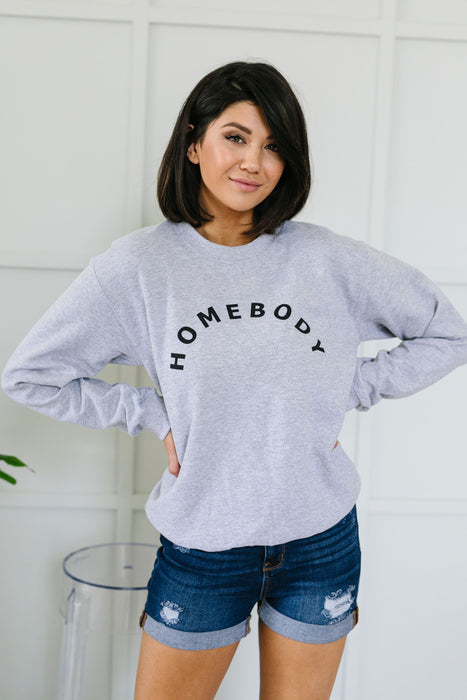 Homebody Heather Gray Sweatshirt