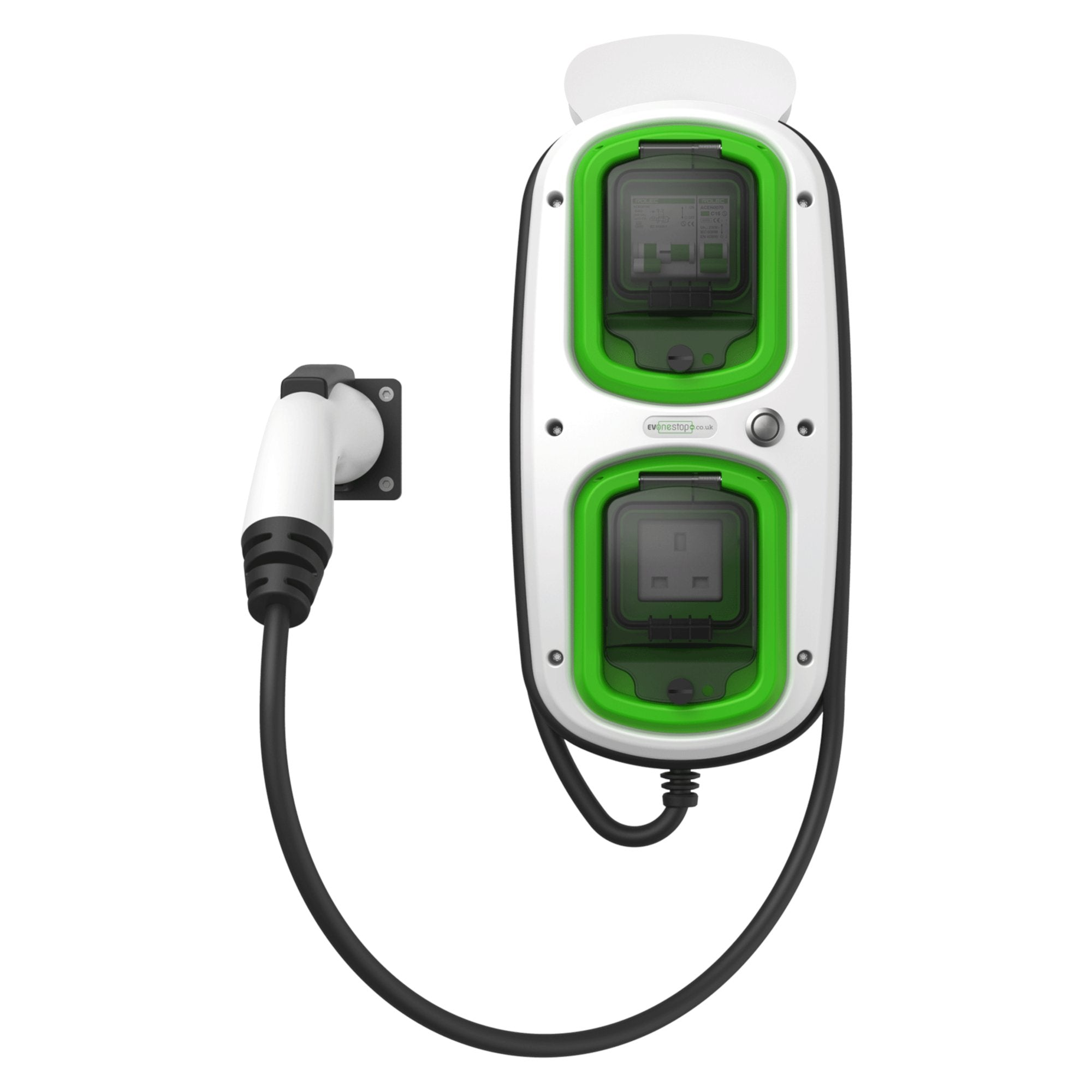 WallPod : EV Multi-Mode | Type 1 Tethered | 5 Meter | 16/32 Amp(3.6/7.2kW) | 3 Pin Socket | IP65 |