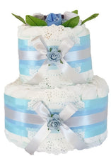 Load image into Gallery viewer, 2 Tier Bronze Nappy Cake