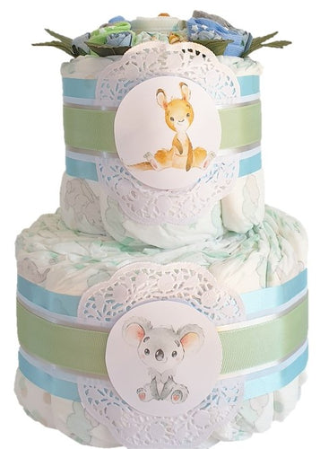 2 Tier I Still Call Australia Home Nappy Cake