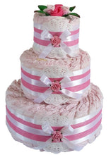 Load image into Gallery viewer, 3 Tier Bronze Nappy Cake