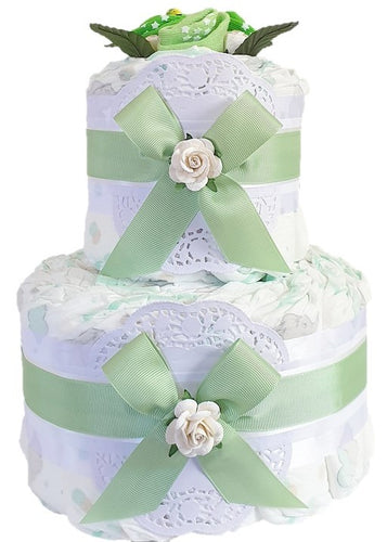 2 Tier Bronze Nappy Cake