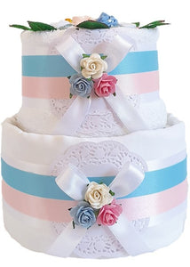 2 Tier Twins Nappy Cake