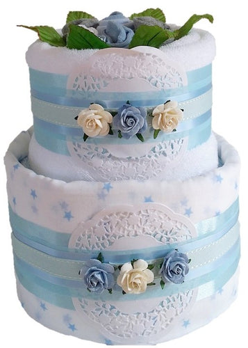 2 Tier Spring Time Nappy Cake