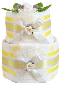 2 Tier Silver Nappy Cake
