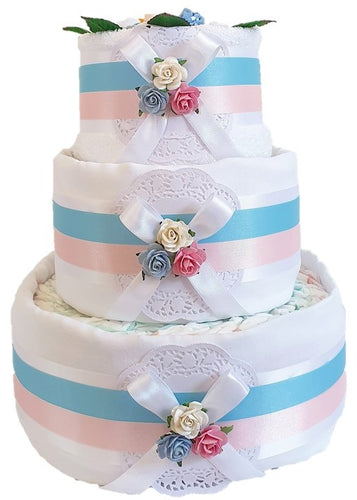 3 Tier Twins Nappy Cake