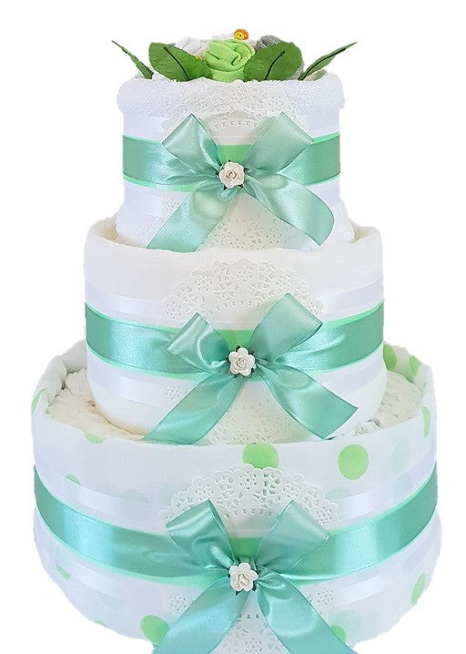 3 Tier Silver Nappy Cake