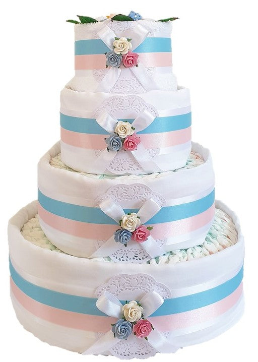 4 Tier Twins Nappy Cake