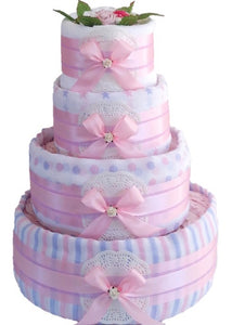 4 Tier Socks & More Nappy Cake
