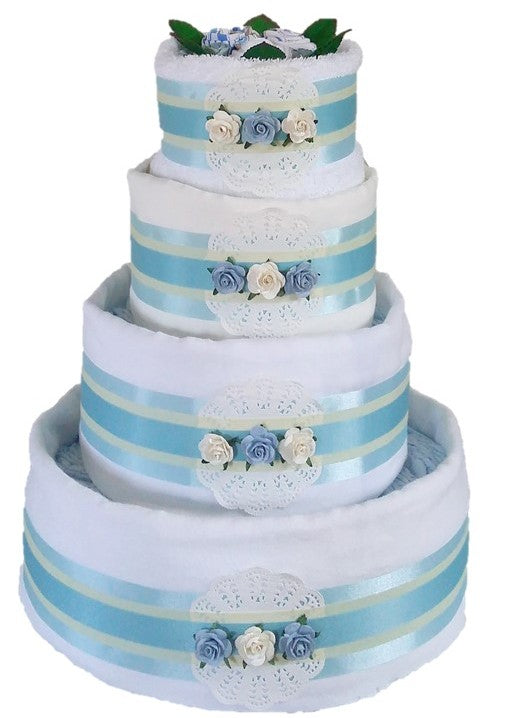 4 Tier Spring Time Nappy Cake