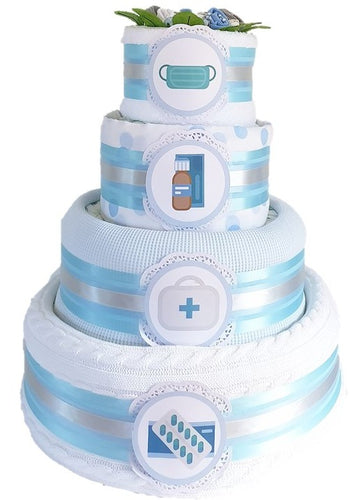 4 Tier Essential Services Nappy Cake