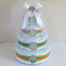 Load image into Gallery viewer, 4 Tier Bronze TMNT Nappy Cake