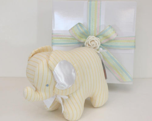 Kate Finn - Elephant Lemon Stripe