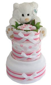 3 Tier Gold Nappy Cake