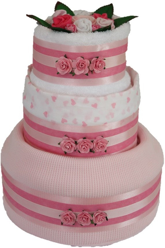 3 Tier Spring Time Nappy Cake