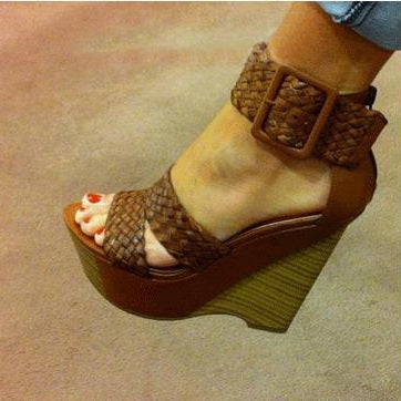 Wedge Heel Strappy Open Toe Line-Style Buckle Casual Platform Sandals