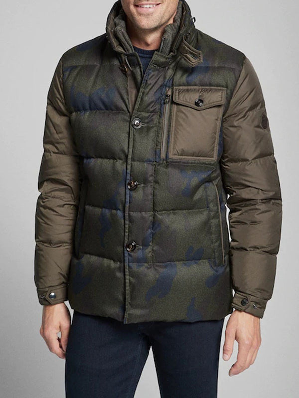 Standard Pocket Camouflage Casual Down Jacket