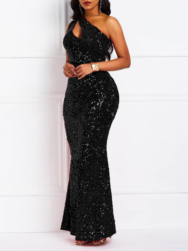Sleeveless Floor-Length Sequins Mermaid Sexy Dress