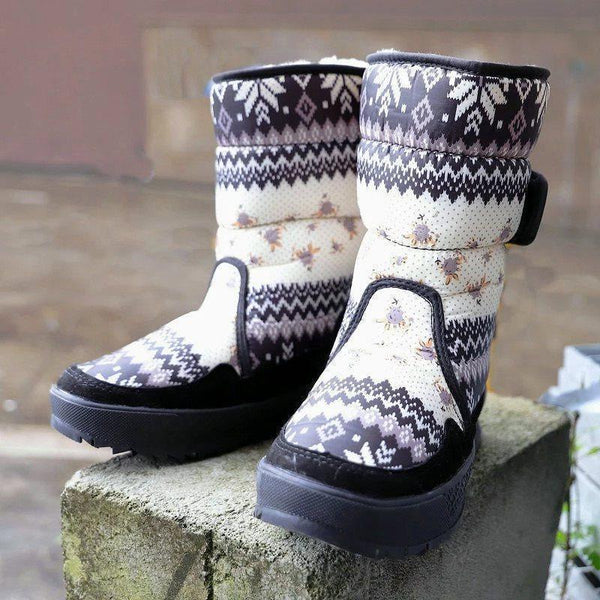 Color Block Round Toe Velcro Casual Casual Boots